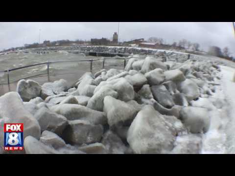 Fox 8 showing Lake Erie power and beauty