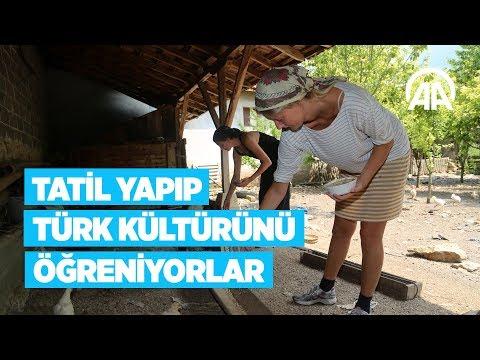 Çalıştıkları çiftlikte Tatil Yapıp Türk Kültürünü öğreniyorlar