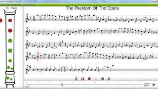 Призрак оперы на блокфлейте сопрано (немецкая система)