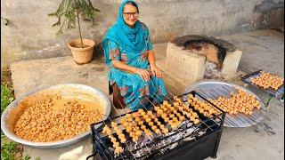 ROASTED MUSHROOM COOKING BY MY GRANNY | STREET FOOD | INDIAN RECIPES | VEG VILLAGE FOOD | ASMR