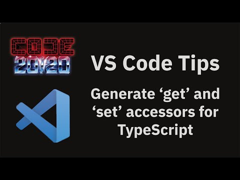 Generate 'get' and 'set' accessors for TypeScript