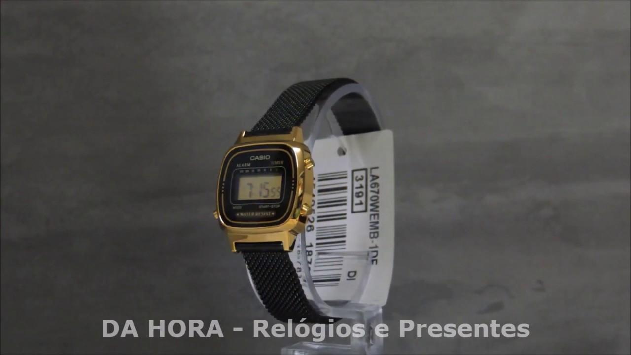 e06d128aeec Relógio Casio Vintage Mini LA670WEMB-1DF - DA HORA - Relógios e Presentes