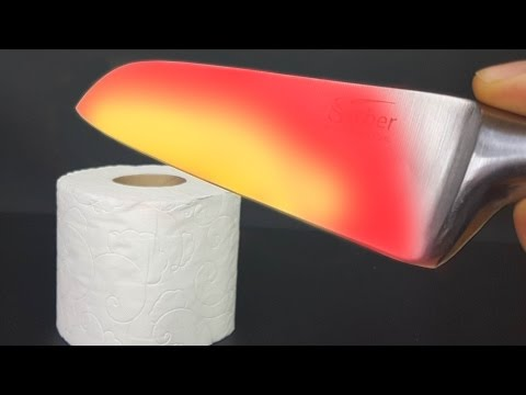 Thumbnail: EXPERIMENT Glowing 1000 degree KNIFE VS TOILET PAPER