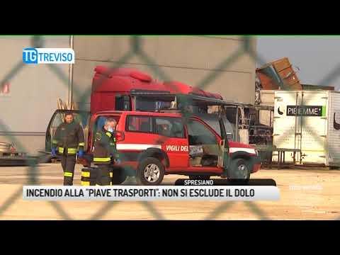 TG TREVISO (25/01/2018) - INCENDIO ALLA...