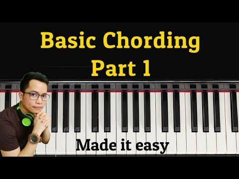 PAANO MATUTO NG PIANO/KEYBOARD (basic chording )- Part 1