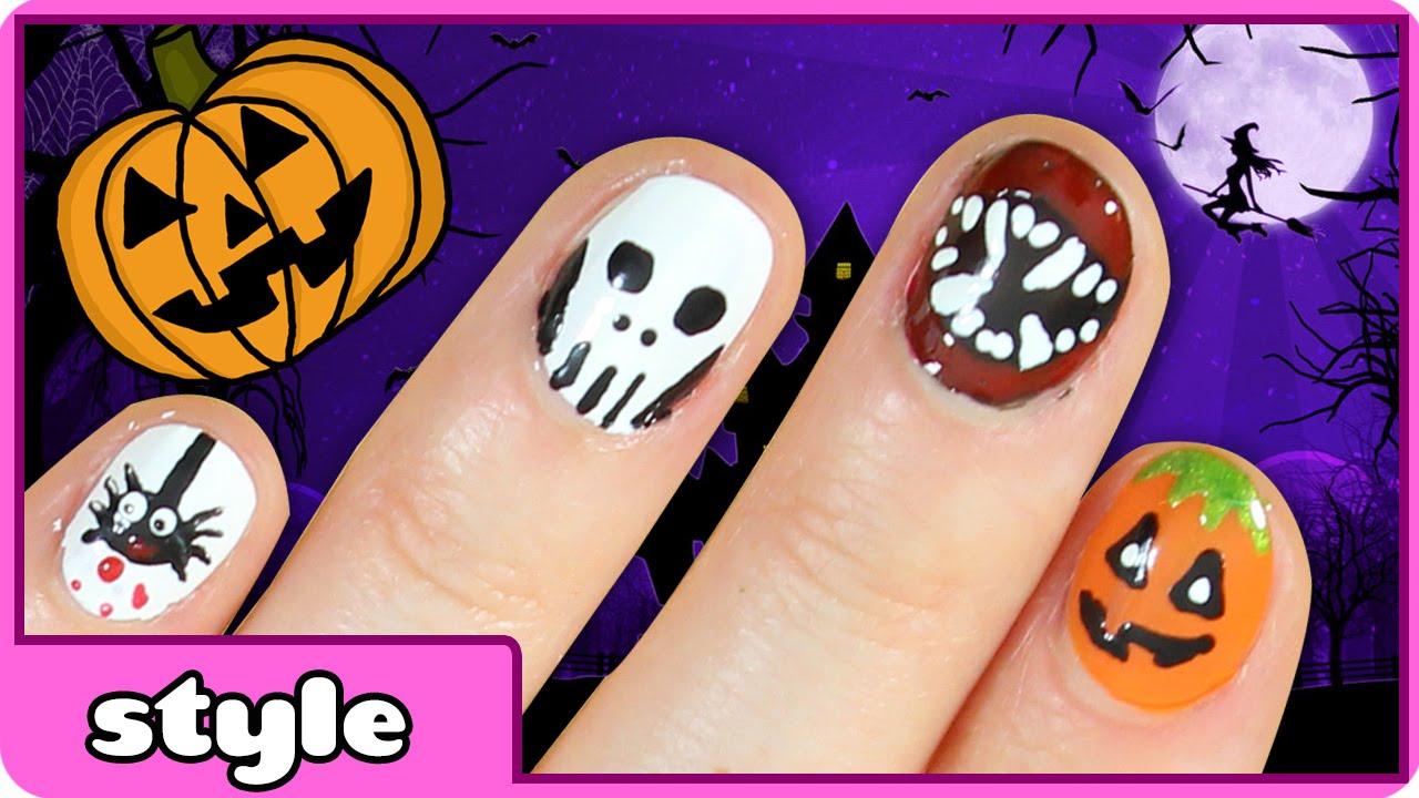 Halloween Nail Art Ideas | Five Cute & Easy Halloween Nail ...