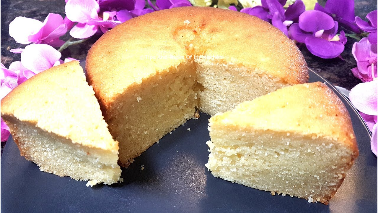 Simple Vanilla Cake Recipe Kenya: Eggless Sponge Cake Recipe Video In Cooker