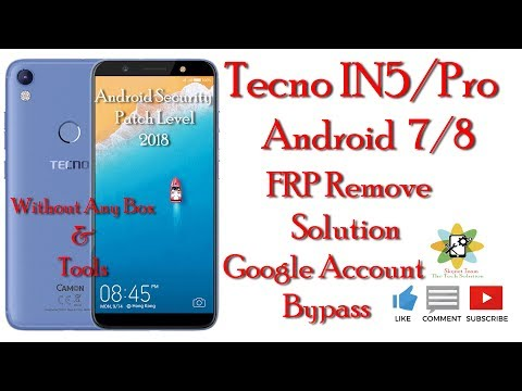 Tecno IN5    Google Account Remove Without Any Box & Tools    Very