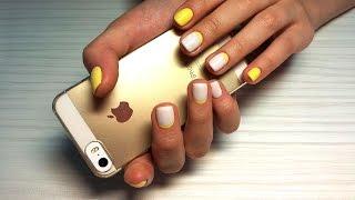 Дизайн ногтей гель-лак shellac - Обратный френч - Французский маникюр (видео уроки дизайна ногтей)