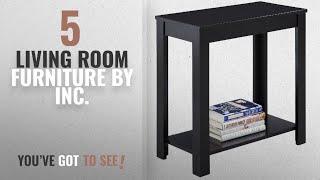 Top 10 Inc. Living Room Furniture [2018]: Crown Mark Pierce Side Table, Black