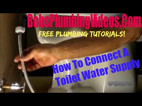 Connecting the Water Supply to a Toilet Tank