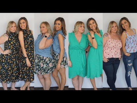 Clothing Haul + Try-On   Two Body Types, size inclusion, affordable!