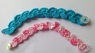 How to crochet easy and beautiful bracelet