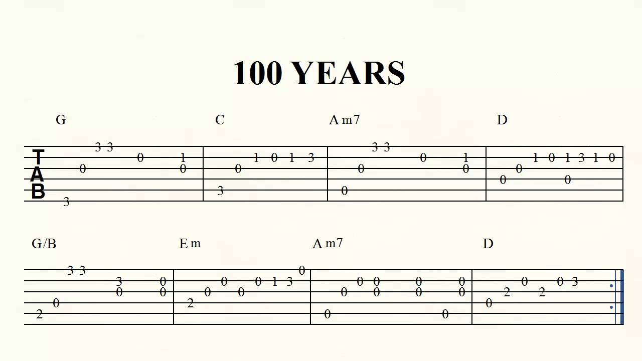 Play along five for fighting 100 years solo guitar youtube play along five for fighting 100 years solo guitar hexwebz Choice Image