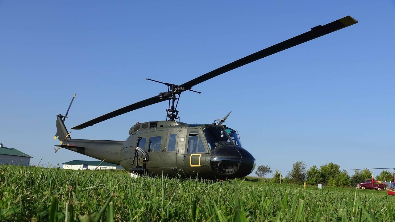 Huey Helicopter that flew in the Vietnam War at Wheels and Wings in  Osceola, WI