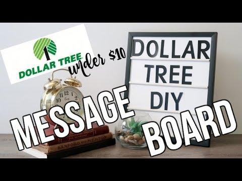 DOLLAR TREE DIY | MESSAGE BOARD | DECOR