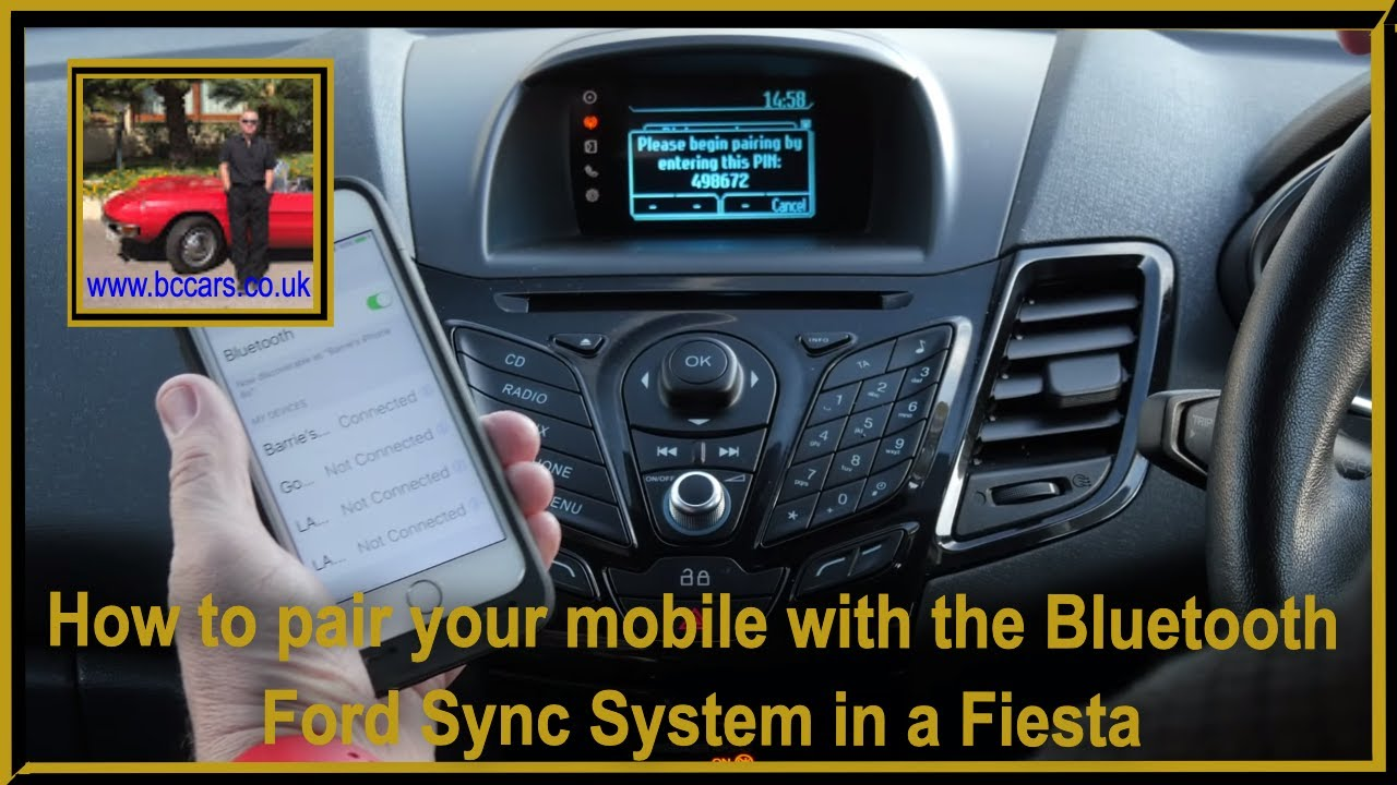 how to pair your mobile with the bluetooth ford sync system in a fiesta youtube. Black Bedroom Furniture Sets. Home Design Ideas