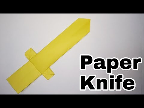 How to make Paper Knife || Easy Paper Weapon Tutorial