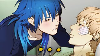 EXTREMELY DEEP TONGUE KISSING.   DRAMAtical Murder - 15 - Noiz Route