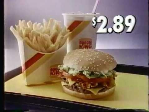 1986 burger king double deluxe hamburger commercial youtube. Black Bedroom Furniture Sets. Home Design Ideas