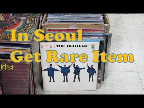 In Seoul Get Rare curios Item(Rare LP Record, Money, Stamps, Curios Camera)-회현지하상가