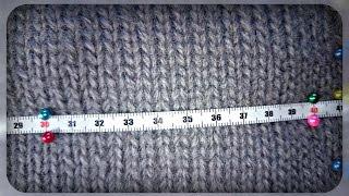 как рассчитать кол -  во петель спицами или крючком на себя