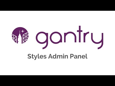 Gantry 5: Styles Admin Panel