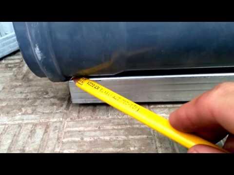 как сделать рымбу с пластиковой 110 трубы