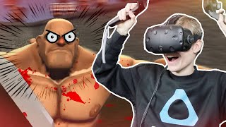 I BROKE MY VIVE CONTROLLER? BIG FAIL! | Gorn VR (HTC Vive Gameplay)