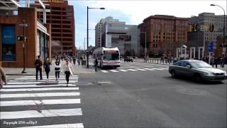 Various Buses at Center City Philadelphia 3-12-2016