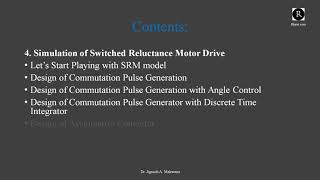 Introduction: Modelling & Simulation of SRM Drive