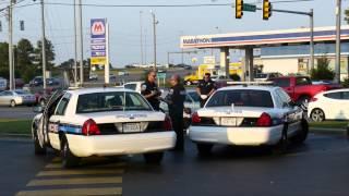 3 Cops Arrest Man on Sidewalk