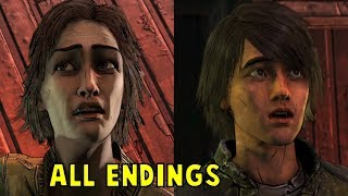 Clem Asks Aj to Shoot Lilly vs Surrender ALL ENDINGS - The Walking Dead The Final Season Episode 3