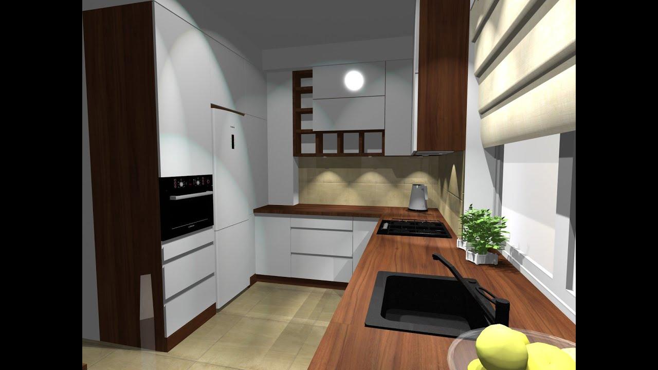 Jak zaprojektować dużą kuchnię, projekt kuchni w PRO100 cz 1  YouTube -> Projekt Kuchni Brw