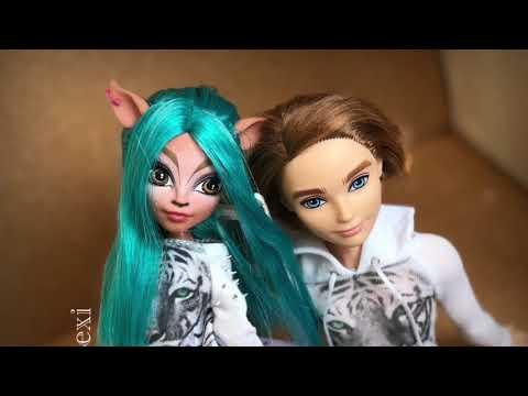 Школьная история/Приход модной весны stop motion Monster High и EAH (мультик с куклами)