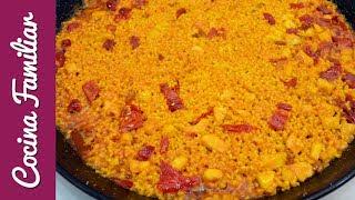 Paella de arroz con bacalao a la riojana   Recetas de Javier Romero