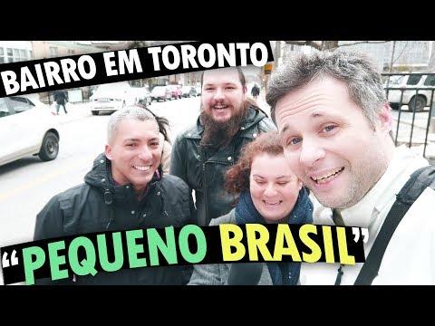 """TOUR PELO BAIRRO """"PEQUENO BRASIL"""" EM TORONTO - BAIRROS NO CANADÁ #1 feat. Casa dos Vikings no Canadá"""