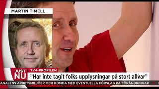 Martin Timell talar ut om anklagelserna - Nyheterna (TV4)