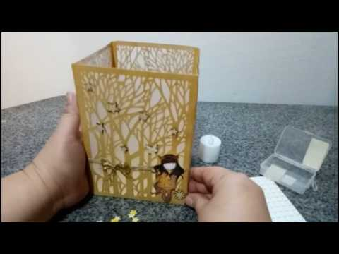 Woodland Lantern using Maria E. Designs' Into the Woods Die