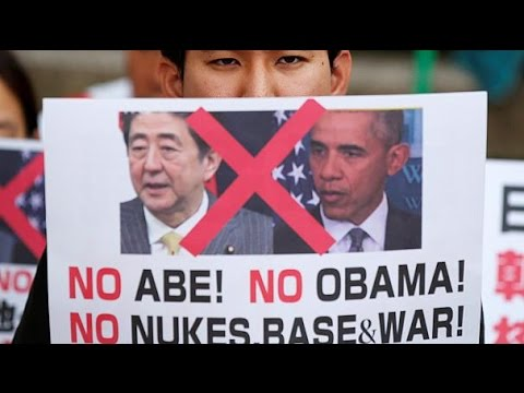Various protests in Hiroshima ahead of Obama visit | Around The World Headline News