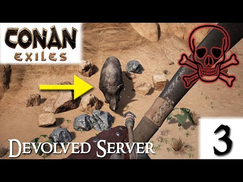 CONAN EXILES - Devolved Server - BLACK RHINO #3