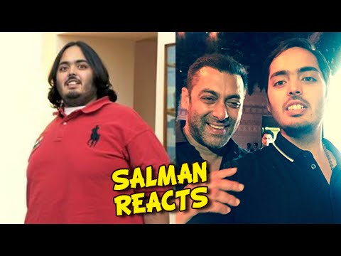 Salman Khan Reacts On Anant Ambani's UNBELIEVABLE Weight Loss