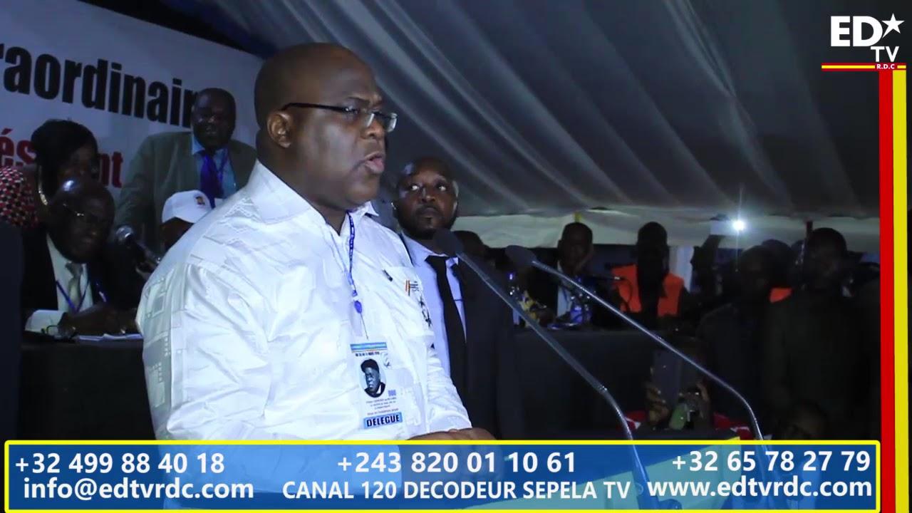 UDPS CONGRES EXTRAORDINAIRE: LE PREMIER MOT DU PRÉSIDENT NOUVELLEMENT ÉLU