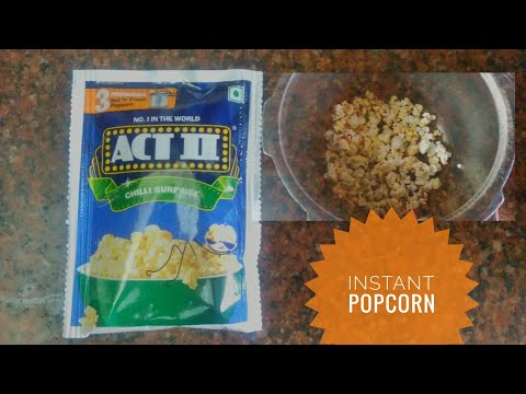 how to make instant popcorn without microwave |ACT 2 ready to cook popcorn |