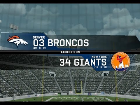 2003 Denver Broncos vs. 1934 New York Giants