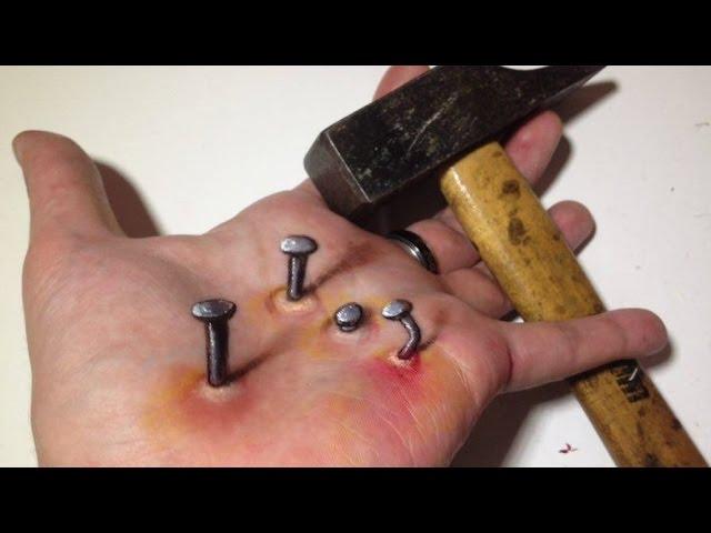 Nails into my Hand ! - Anamorphic Illusion