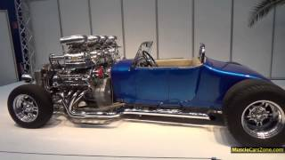 Ford DOUBLE TROUBLE V16 Hot Rod 4 Blowers - 2014 Essen Motor Show