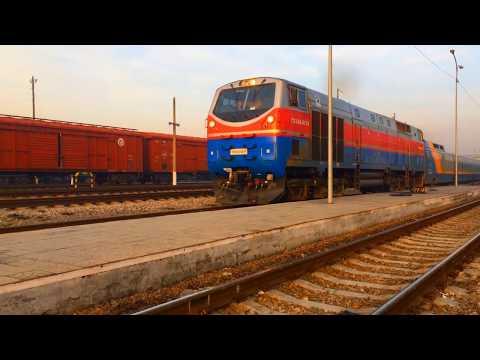 Отправление скоростного поезда №30 Атырау-Алматы(тальго)