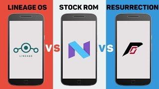 Moto G4 Plus Speed Test : Stock ROM vs Lineage OS vs Resurrection Remix