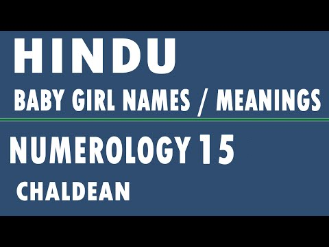 Hindu Baby Girl Names with Meanings - Numerology 15